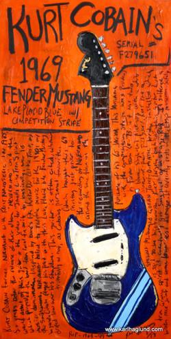 Kurt Cobain Mustang Art