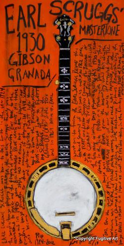 Earl Scruggs Banjo Art