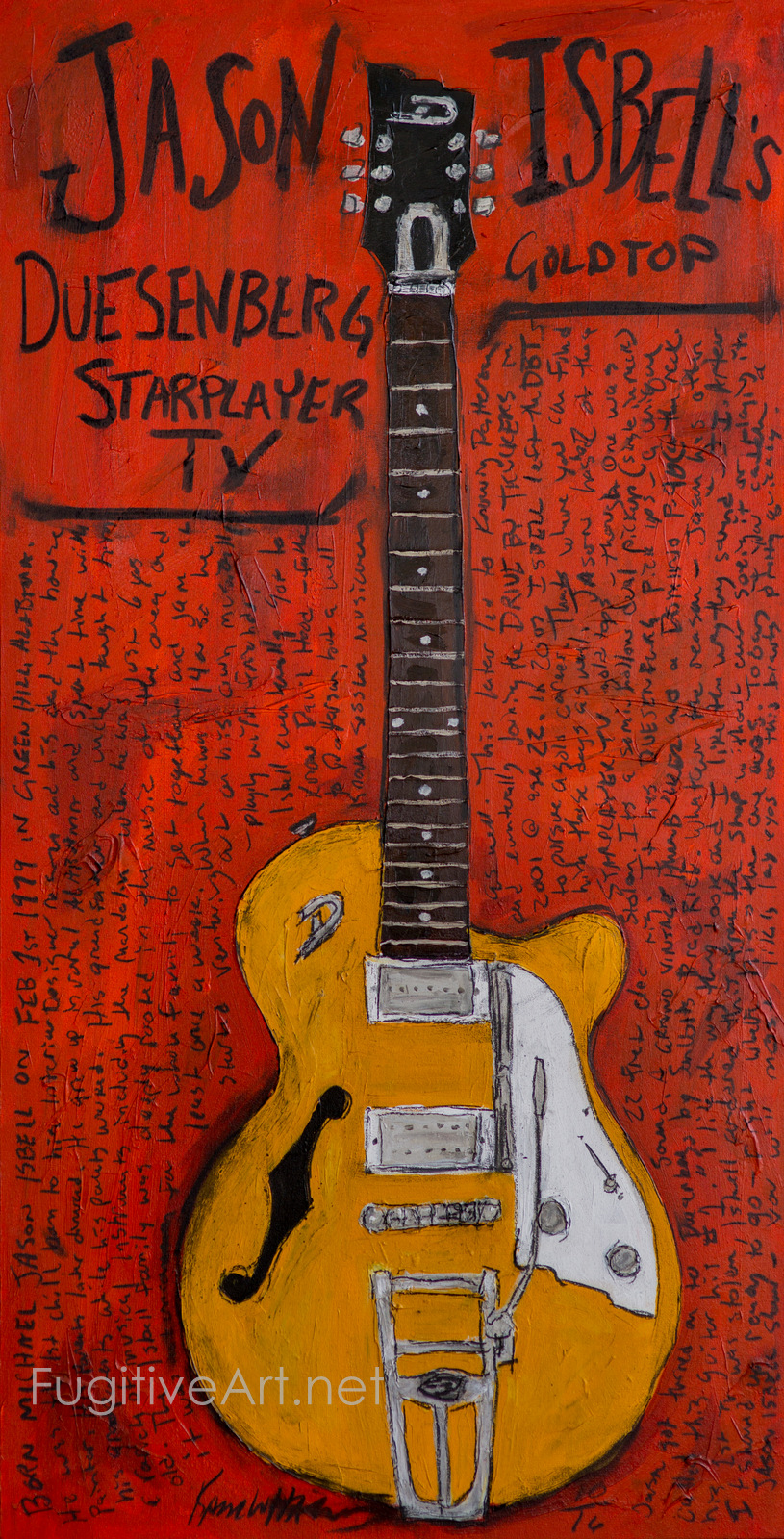 Jason Isbell Guitar Painting