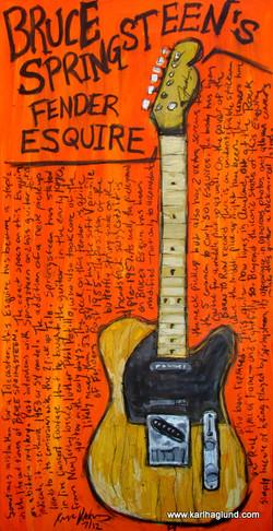 Springsteen Guitar Art