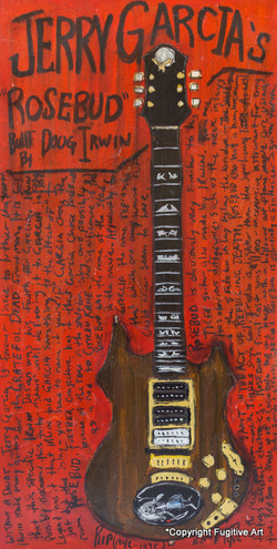 Jerry Garcia Rosebud Guitar Art