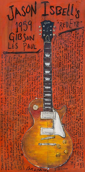 Jason Isbell Gibson Les Paul Red Eye Gui