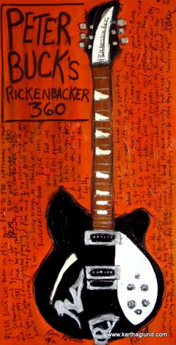 Peter Buck Rickenbacker Guitar Art