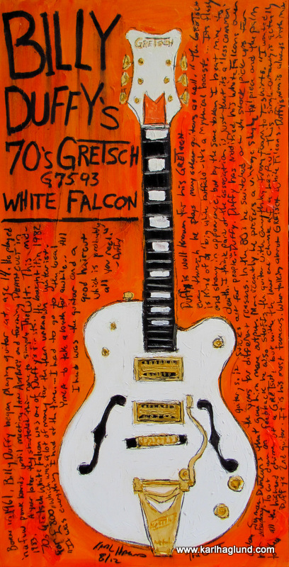 Billy Duffy Guitar Painting