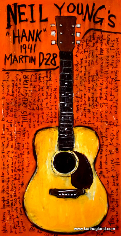 Neil Young Acoustic Guitar Art