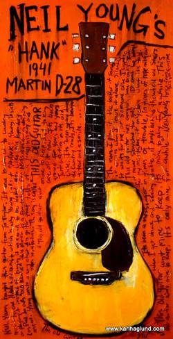 Neil Young Acoustic Guitar Art