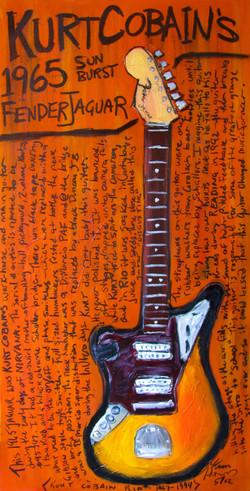 Cobain Jaguar Guitar Art