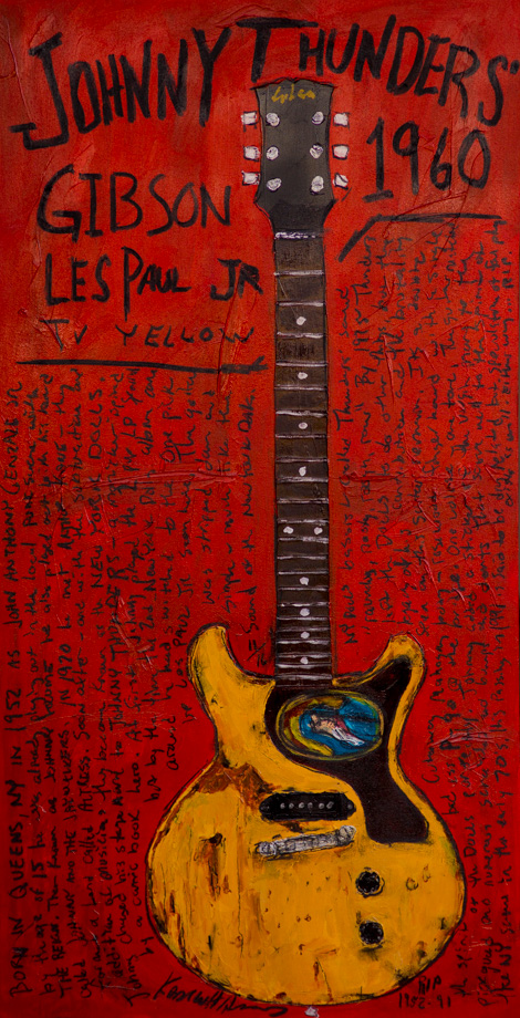 Johnny Thunders Guitar Painting