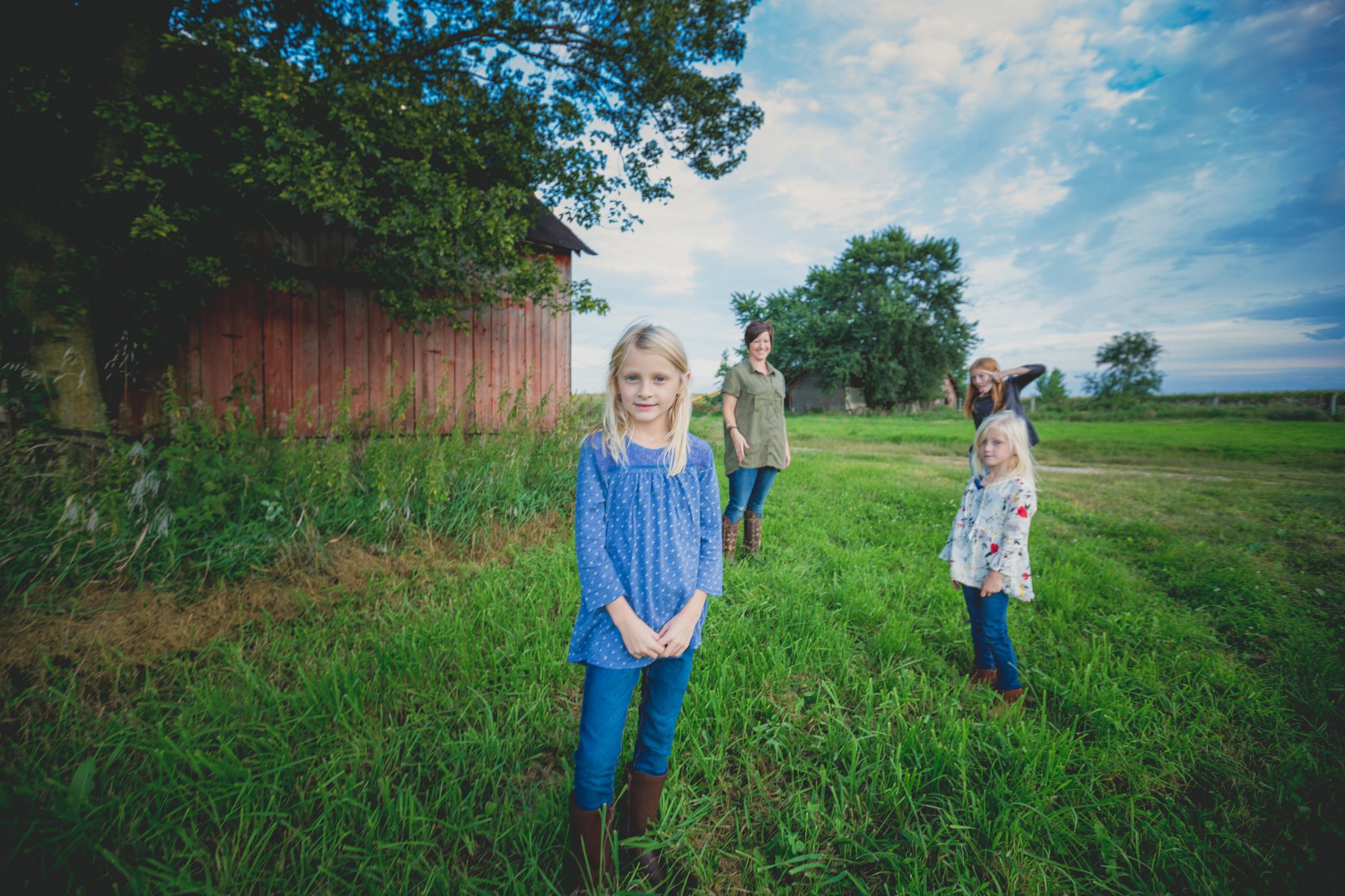 Family portrait north Iowa