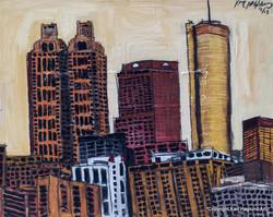 Atlanta Cityscape Painting.