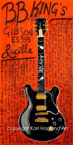 BB King Lucille Art