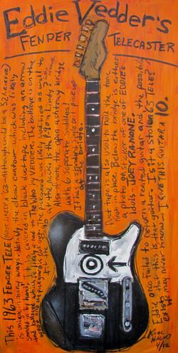 Eddie Vedder Telecaster Art