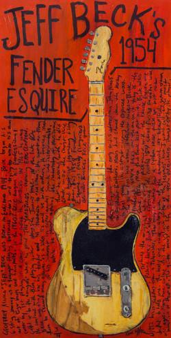 Jeff Beck Famous Guitar Painting