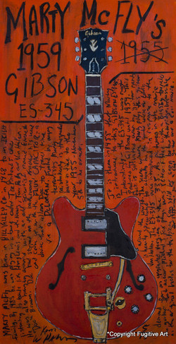 Marty McFly Guitar Art