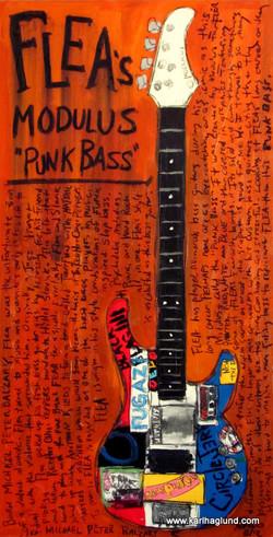 Flea Bass Guitar Art