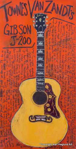 Townes Van Zandt Guitar Art
