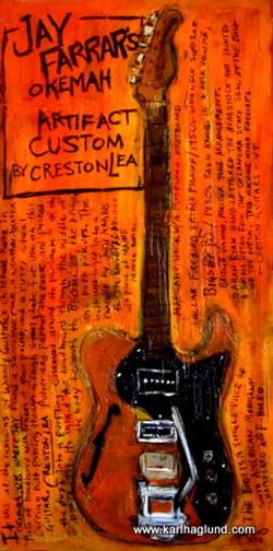 Jay Farrar Guitar Painting