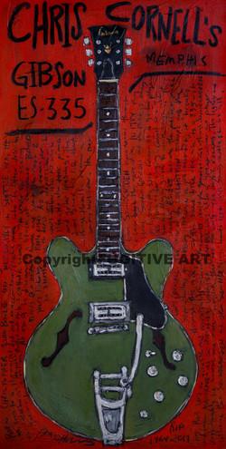 Chris Cornell Guitar Art