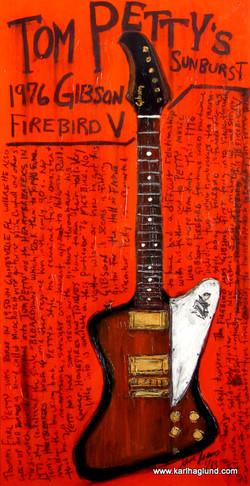 Tom Petty Firebird Guitar Art