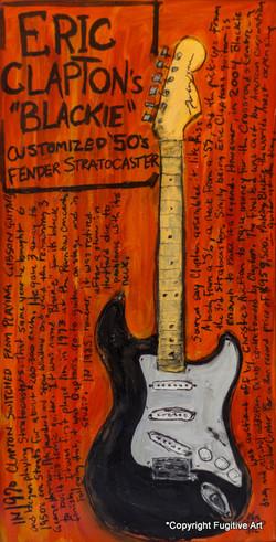 Clapton Blackie Stratocaster Art