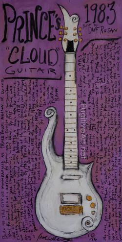 Prince Cloud Guitar Painting