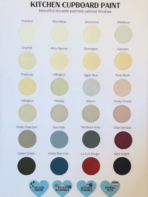 Handmade Kitchen Cupboard Paint Chart