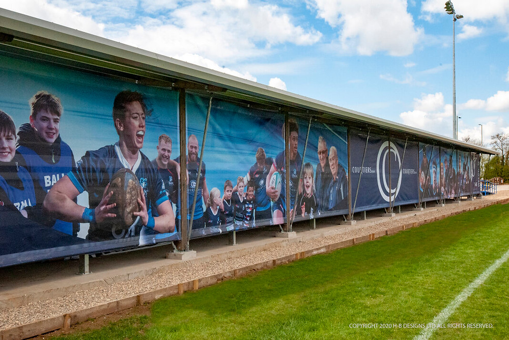 Rear cladding to promote the club and sponsors