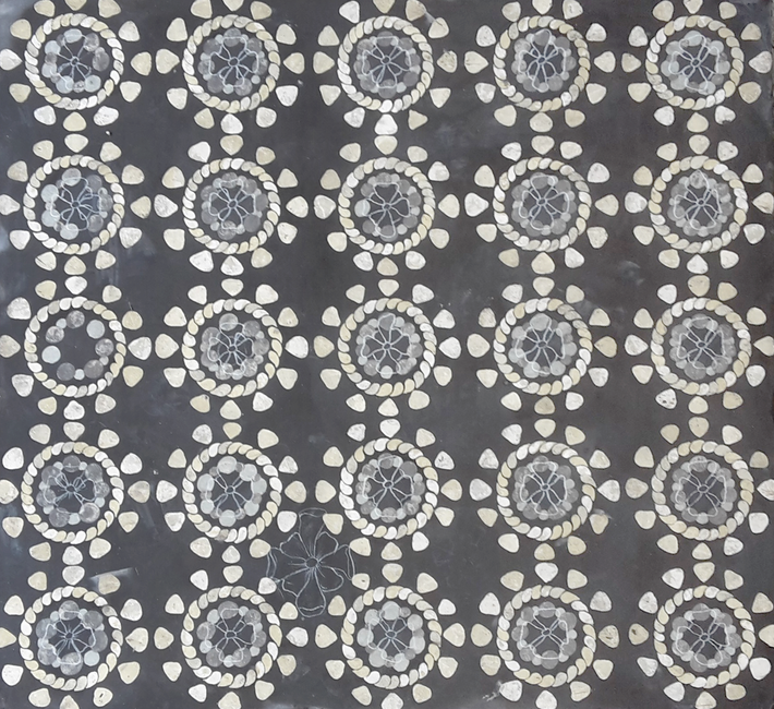 Piano tavolo azulejos (cm 61 x 66).