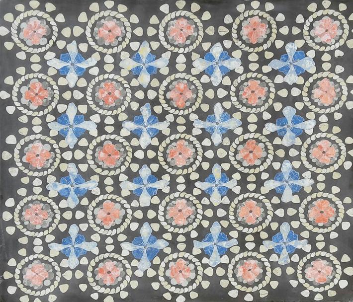 Piano tavolo bizantino (cm 61 x 66).