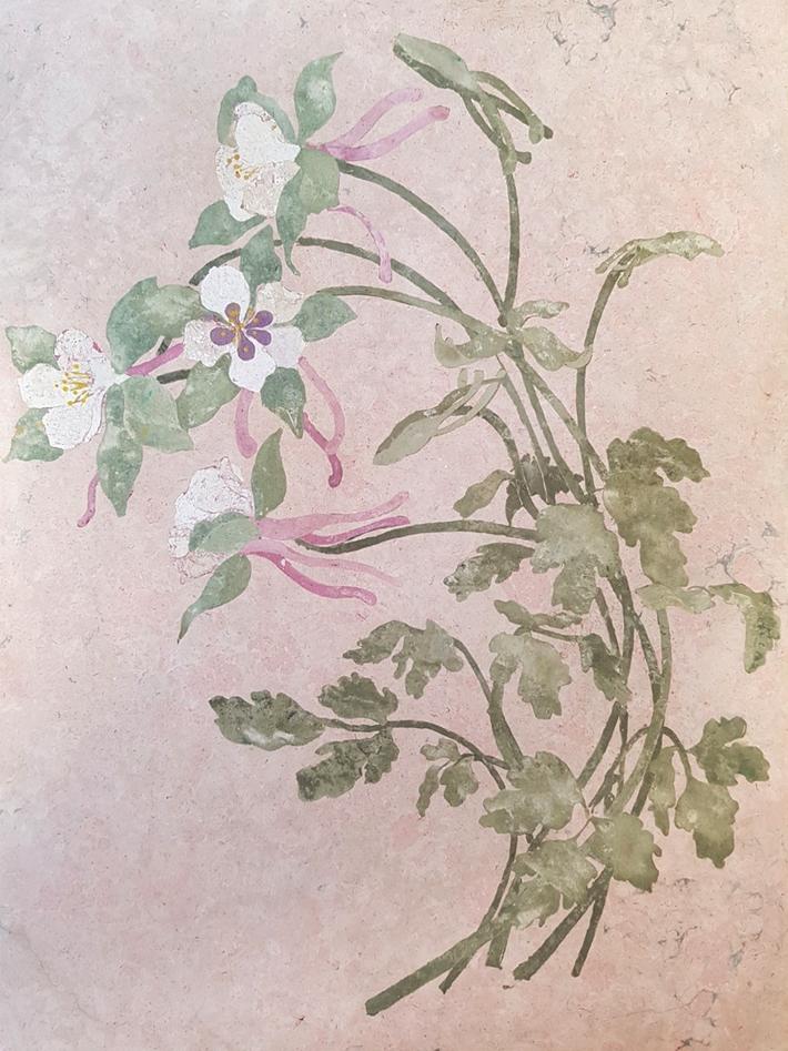 Pannello floreale (cm 20 x 30).