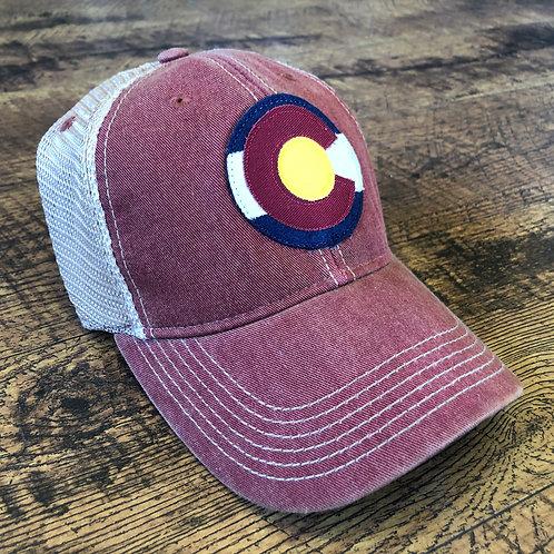 KIDS: Colorado Logo Trucker Hat Cardinal