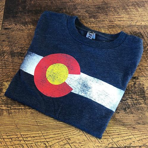 KIDS: White Stripe CO T-Shirt