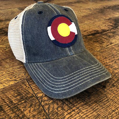 Colorado Logo Trucker Hat Navy