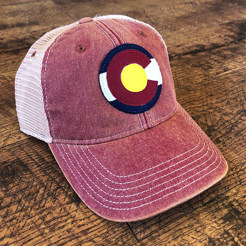 Colorado Logo Trucker Hat Cardinal