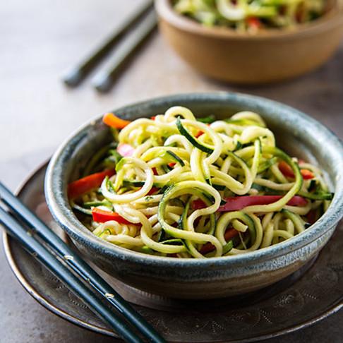 Asian Sesame Zucchini Noodles