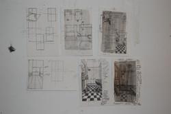 preliminary bathroom sketches