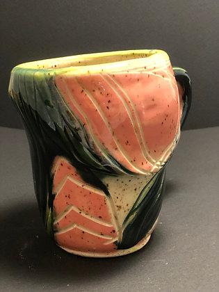 Altered Floral Mug (lg)