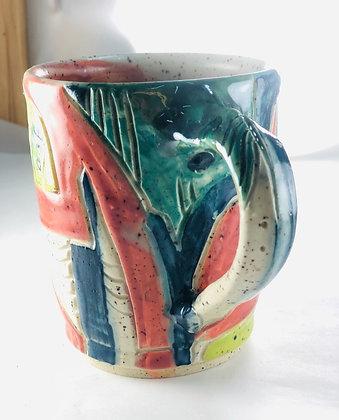 Slice Flow Abstract Mug