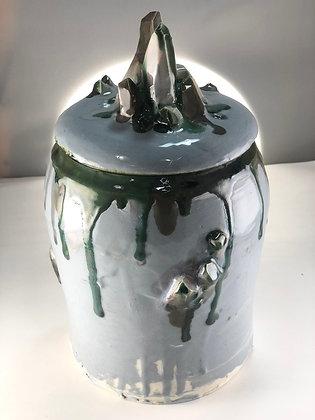 Silver Gem Jar