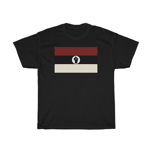 Crimson and Cream Raised Black Fist Flag T-Shirt