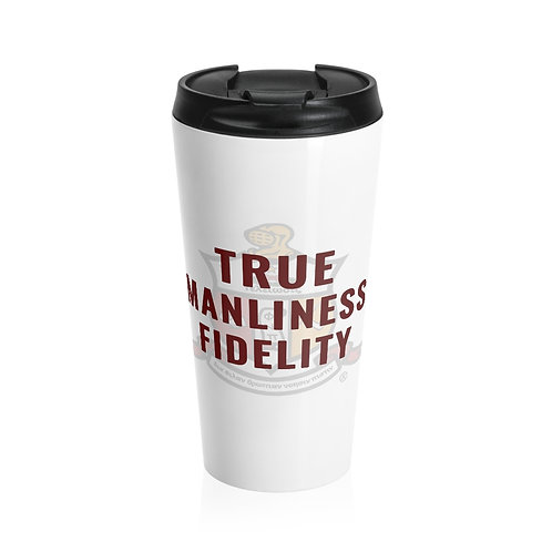 True Manliness Fidelity Kappa Stainless Steel Travel Mug