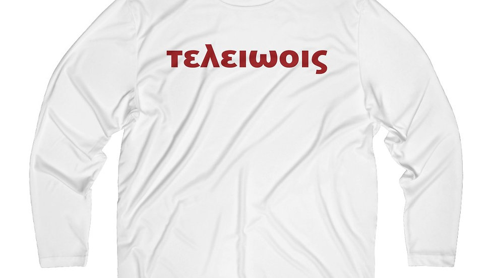 τελειωοις 1911 on Long Sleeve Moisture Absorbing White Tee