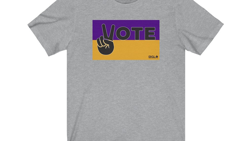 BGLO Purple & Gold VOTE in Peace T-Shirt