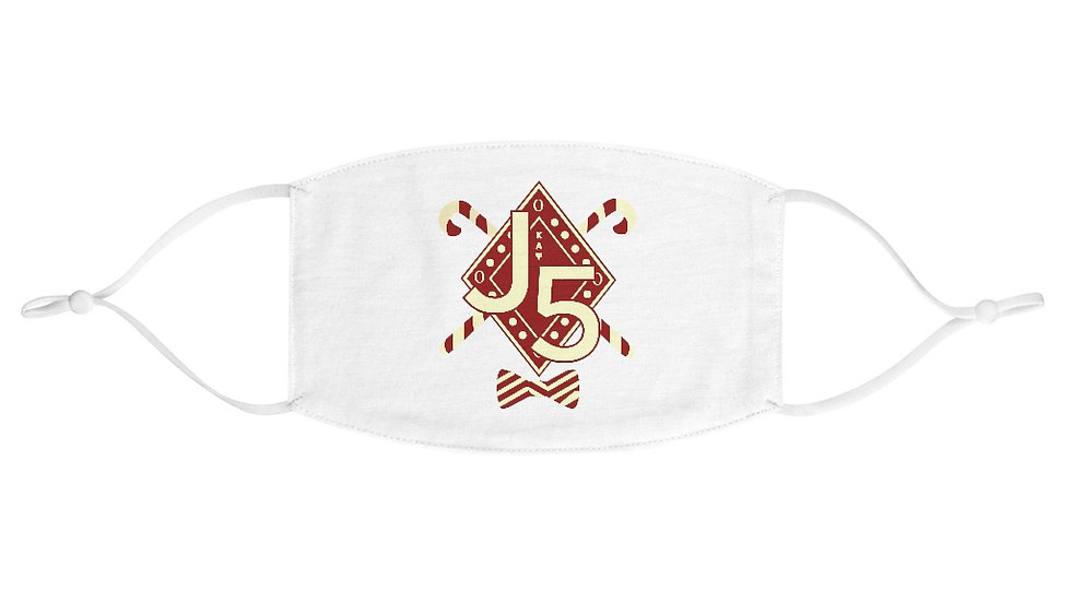 BGLOGear Kappa J5 Design Crimson & Cream Fabric Face Mask