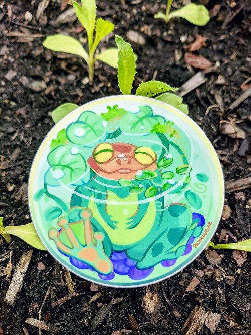 Frog Sphere vinyl sticker
