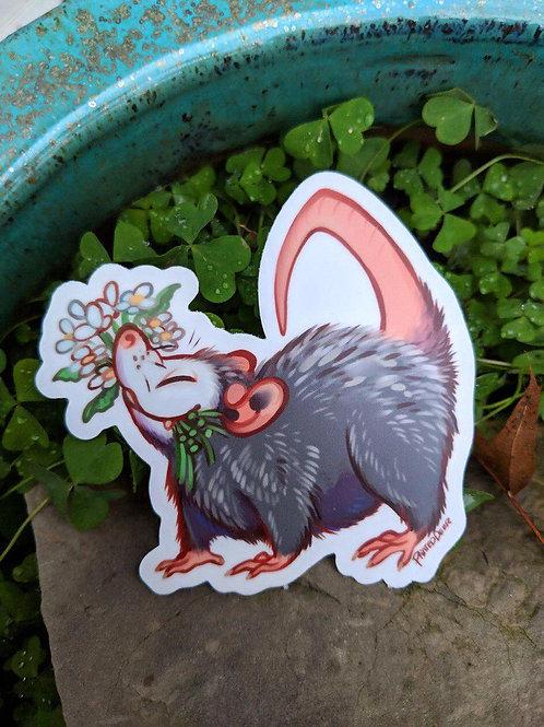 Possum vinyl sticker