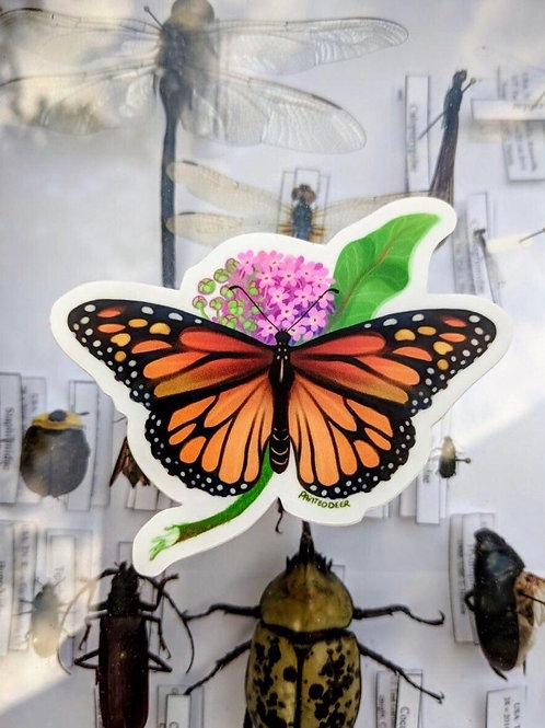 Monarch vinyl sticker