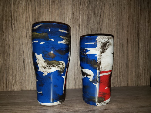 Distressed Corgi 'Texas Flag' Tumblers