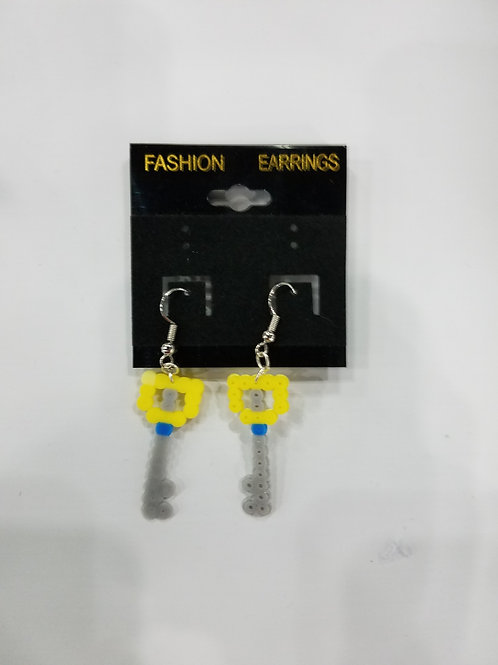 Nerdy Perler Bead Earrings