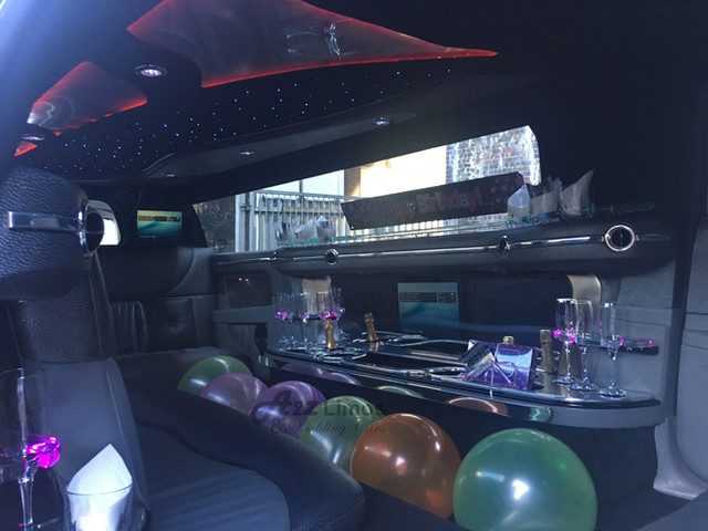 Silver Baby bentley Limo